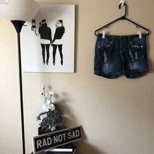 🌸No Boundaries Distressed Embellished Jean shorts